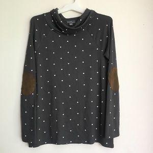 Market & Spruce Cowl Neck Polkadot Sweater